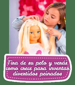 rosaura 1 Así disfrutan las niñas de su amiga Rosaura: https://www.youtube.com/watch?v=DiA06weA7V8 Si buscas una muñeca para tu hija, ten claro que con la esta muñeca grande de Jesmar vas a acertar. El principal valor que tiene Rosaura, además de su tamaño, es el hecho de que le crece el pelo para que tu hij@ pueda hacerle miles de peinados diferentes, ¡parece magia! Lo pasará en grande jugando con esta muñeca de 105 cm de altura. Hazle el pelo con todos los accesorios que incluye que además también podrás ponértelos en el pelo de tu hija para ir como tu muñeca Rosaura. No te lo pienses, la muñeca Rosaura de Jesmar es el regalo ideal para tu pequeñ@. No necesita montaje. No tiene sonidos. No tiene luces. Ideal para Niños y Niñas de 3 a 6 años. muñeca rosaura