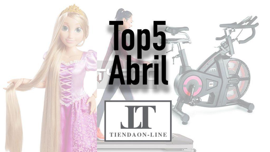 top5 abril Te mostramos la lista de los 5 productos más vendidos en nuestra tienda el pasado mes de abril.